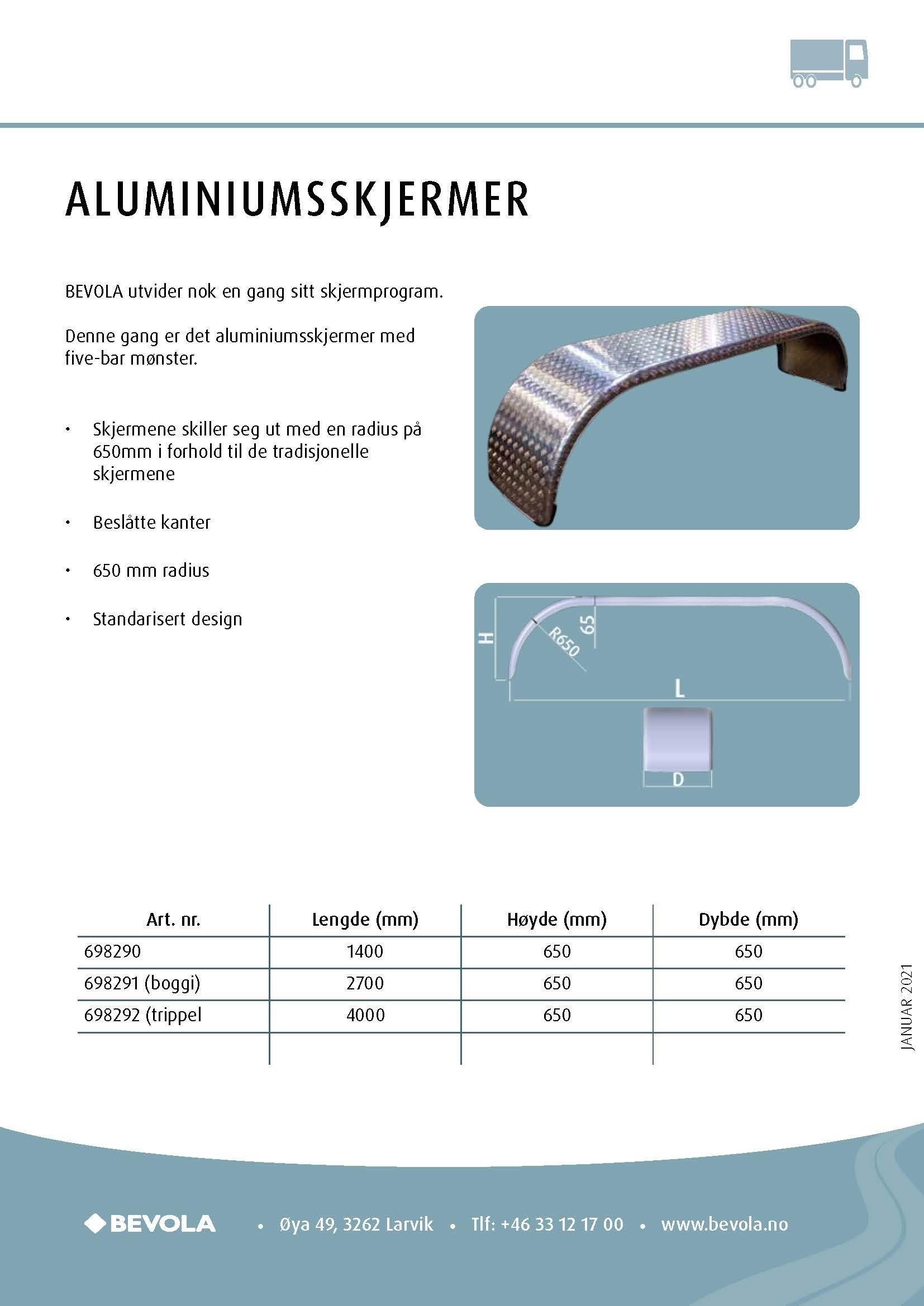Aluminiumsskærm
